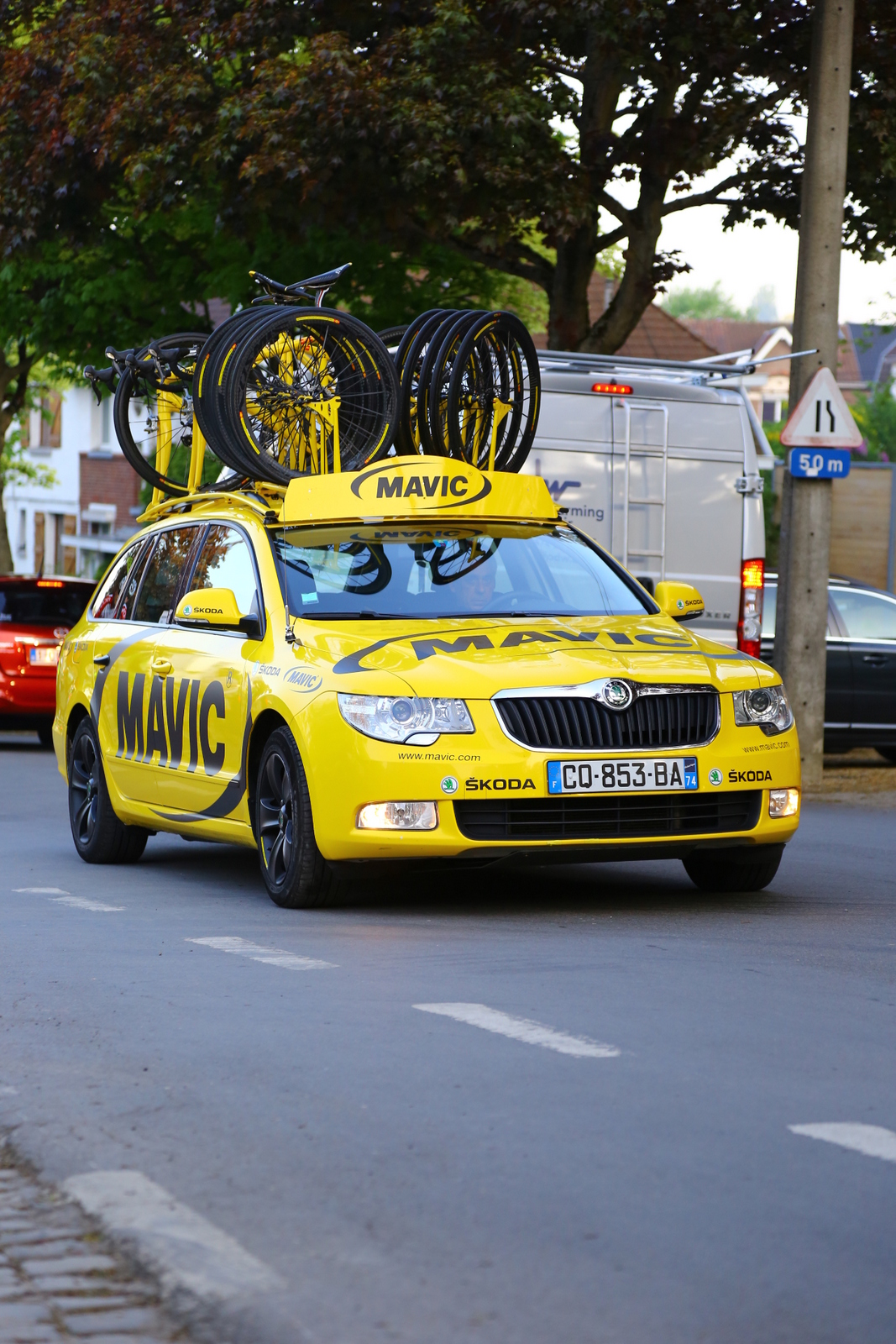 I still get a kick out of seeing those Mavic cars on rides I'm doing