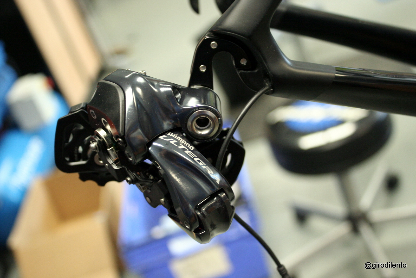 Di2 Rear mech prior to indexing adjustments